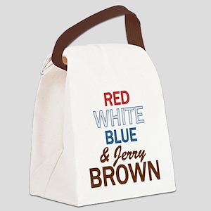 RWBluBrown2 Canvas Lunch Bag