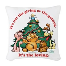 It's The Loving Woven Throw Pillow