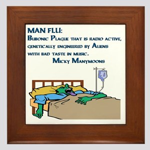 Man Flu Framed Tile