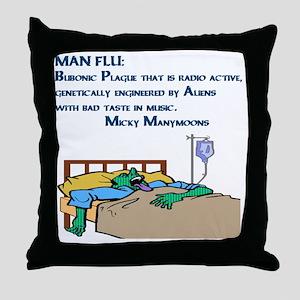 Man Flu Throw Pillow