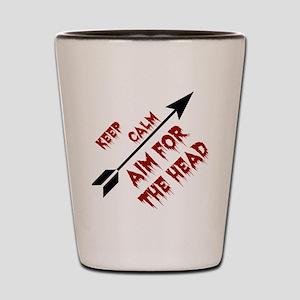 Aim head Shot Glass