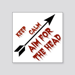 "Aim head Square Sticker 3"" x 3"""