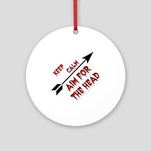 Aim head Round Ornament