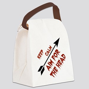 Aim head Canvas Lunch Bag