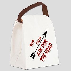 Aim head Canvas Lunch Bag