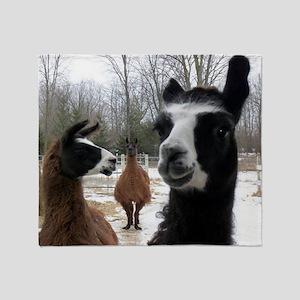 Llamas larger Throw Blanket
