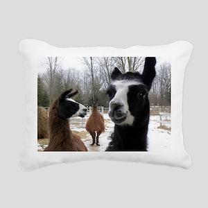 Llamas larger Rectangular Canvas Pillow