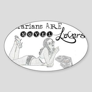 Novel Lovers T-Shirt Sticker (Oval)