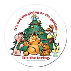 It's The Loving Round Car Magnet