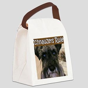 schnauzersrule Canvas Lunch Bag