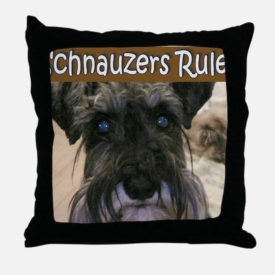 schnauzersrule Throw Pillow