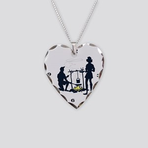 clockfacecamping1 Necklace Heart Charm