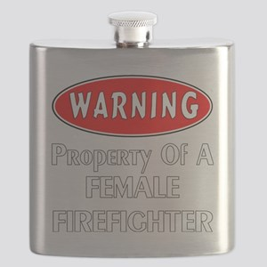 Female Firefighter Property Flask