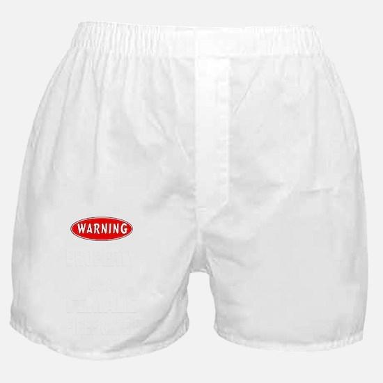 Female Firefighter Property Boxer Shorts