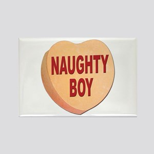 Naughty Boy Valentine Heart Rectangle Magnet