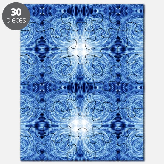 blue water ripples pattern ABSTRACT ART Puzzle