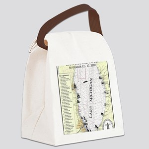 S Lk Mich map Canvas Lunch Bag