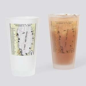 S Lk Mich map Drinking Glass