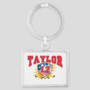 President Zachary Taylor dark s Landscape Keychain