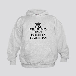 I Am Filipino I Can Not Keep Calm Kids Hoodie