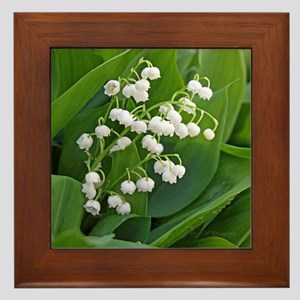 lilyofthevalley Framed Tile