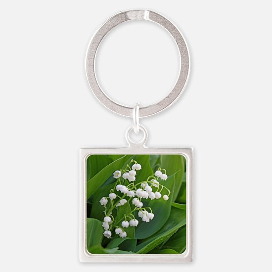 lilyofthevalley Square Keychain