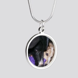 Seelie and Sekhmet square Silver Round Necklace
