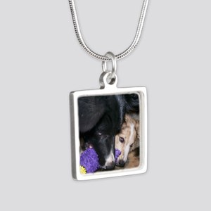 Seelie and Sekhmet square Silver Square Necklace
