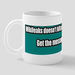 Wikileaks-Peace-Anti-War-Bumper-Sticker Mug