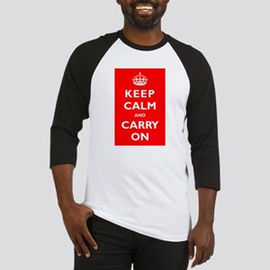 KEEP CALM and CARRY ON - Baseball Jersey