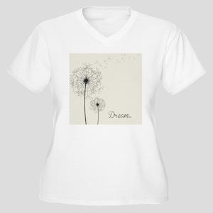 Dandelion  Women's Plus Size V-Neck T-Shirt