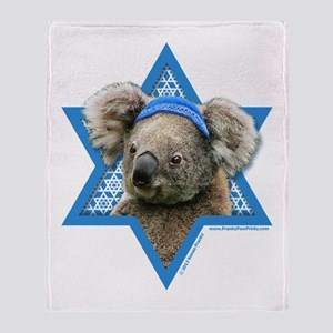 Hanukkah Star of David - Koala Throw Blanket
