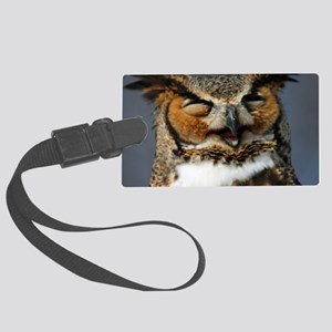 Laughing  Owl Large Luggage Tag