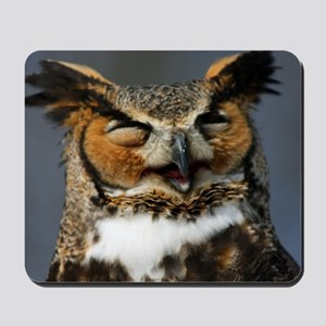Laughing  Owl Mousepad