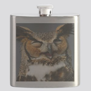 Laughing  Owl Flask