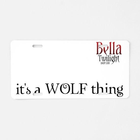 wolf-thing-tshirt Aluminum License Plate
