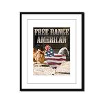 Free Range American Framed Panel Print
