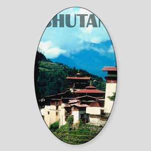 bhutan2 Sticker (Oval)