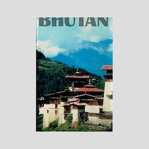 bhutan2 Rectangle Magnet