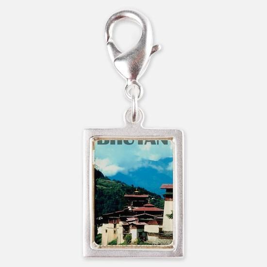 bhutan2 Silver Portrait Charm