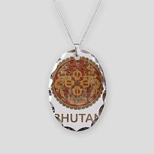 bhutan5 Necklace Oval Charm