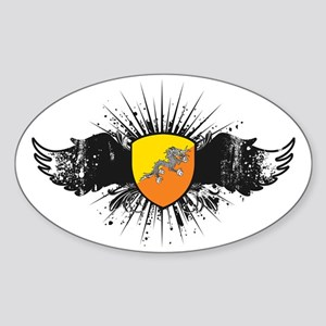 bhutan4 Sticker (Oval)