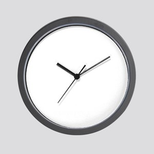 BTS-whitetxt-logo-shirt Wall Clock