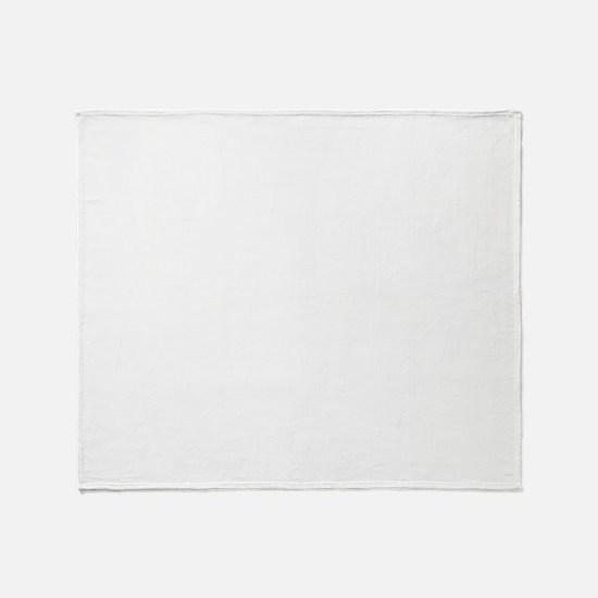 BTS-whitetxt-logo-shirt Throw Blanket