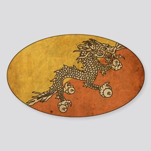bhutan3 Sticker (Oval)