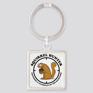 squirrel_hunter_v1 Square Keychain