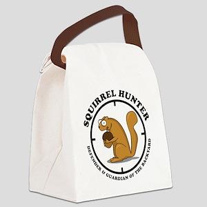 squirrel_hunter_v1 Canvas Lunch Bag