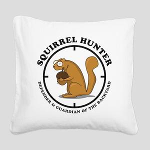 squirrel_hunter_v1 Square Canvas Pillow