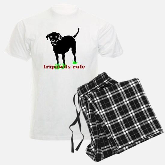 Rear Leg Tripawds Three Legge Pajamas