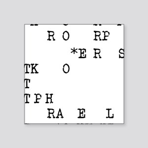 "steno 1 Square Sticker 3"" x 3"""